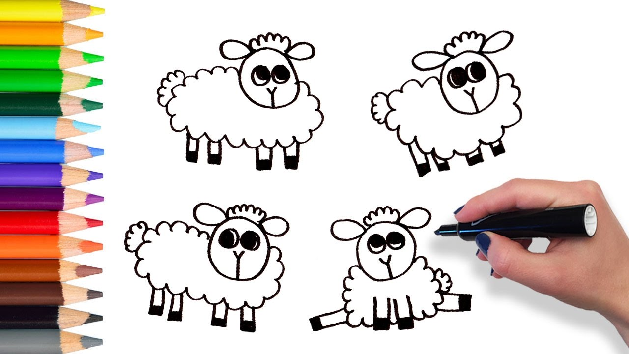 learn counting with sheep coloring pages for kids youtube