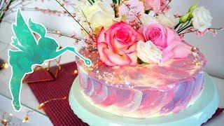 Geld Geschenk Torte mit Aquarell Effekt aus Buttercreme - Torte mit Geld versteckt - Kuchenfee
