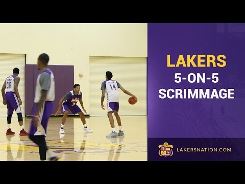 Lakers 5-On-5 Scrimmage: Brandon Ingram, D'Angelo Russell, Randle, Nance