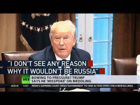 'Lack of a backbone'? Trump backtracks on Russia's election meddling claim