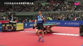 【2020年全日本卓球】デイリーハイライト(Day 7)男子シングルス準決勝|張本智和vs.戸上隼輔 thumbnail