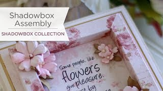 Shadowbox Collection by Becca Feeken - How to Assemble a Shadowbox