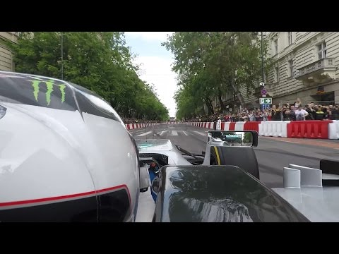 ONBOARD F1: 250 km/h Through Budapest City Centre with Valtteri Bottas!