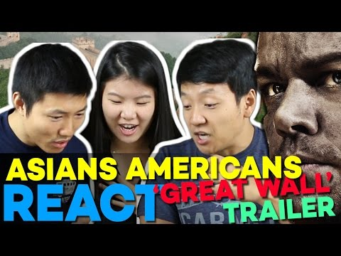 Chinese Americans Reacting to 'The Great Wall' 長城 Trailer & Matt Damon