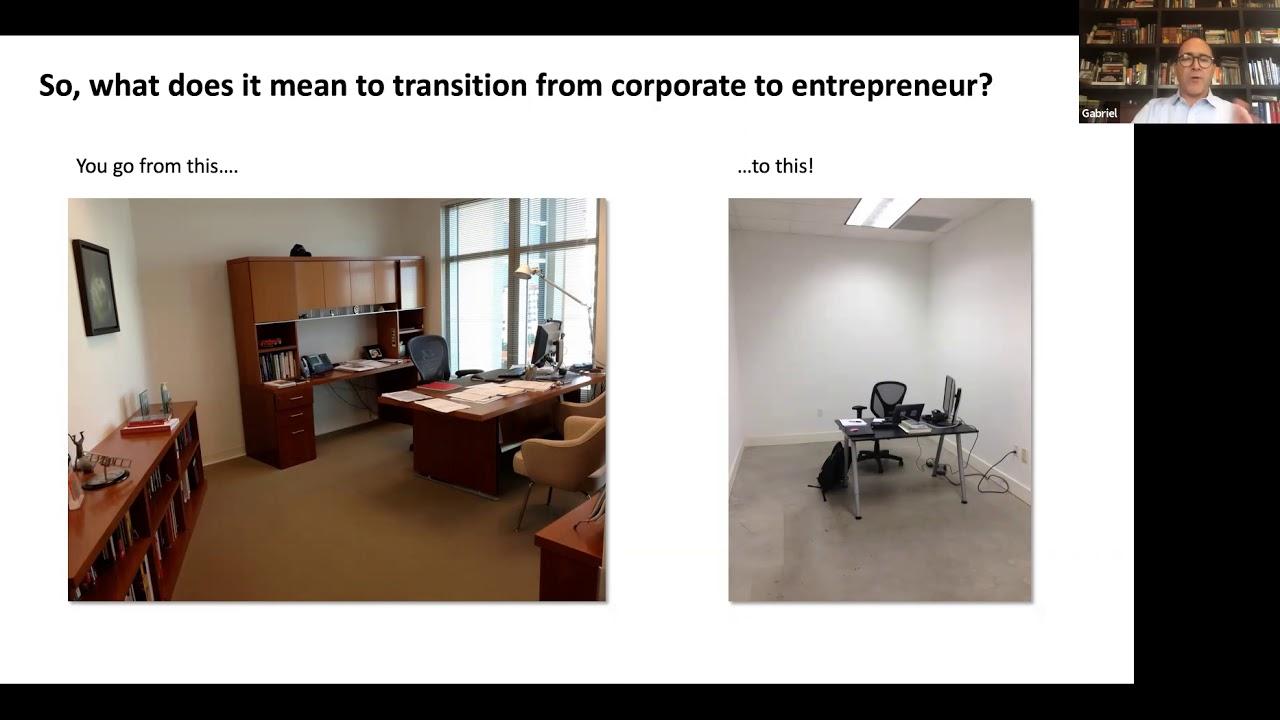 """Conversatorio """" De Ejecutivo Corporativo a Emprendedor: Lecciones Aprendidas"""""""