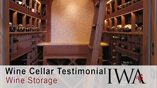 Custom Wine Cellars California - Testimonial Wine Cellar Designs