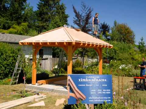 Roof system gazebo youtube - Construire un gazebo ...