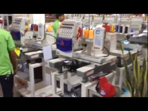 Surya Embroidery Machine at IndoIntertex 2014 Booth