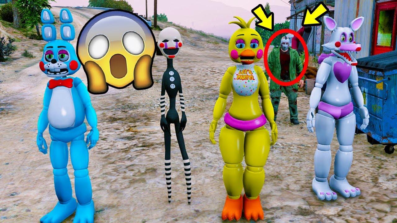 Toy Animatronics Vs Jason Gta V Five Nights At Freddy S Youtube
