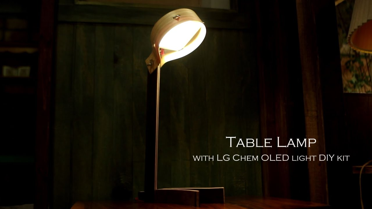 how to make a drumtable lamp with lg display oled light. Black Bedroom Furniture Sets. Home Design Ideas