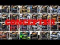 HOT WHEELS CONCEPT CARS AND MOTORCYCLES!!!