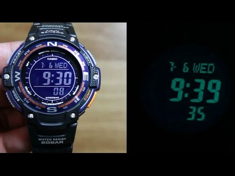 65a07be3da5789 Casio Outgear SGW-100-2B WITH DIGITAL COMPASS - YouTube