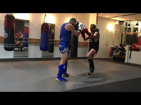 Coach Vik with Ali Khanjari  District Warrior Vancouver BC | WEST LOS ANGELES MUAY THAI 310-596-5034