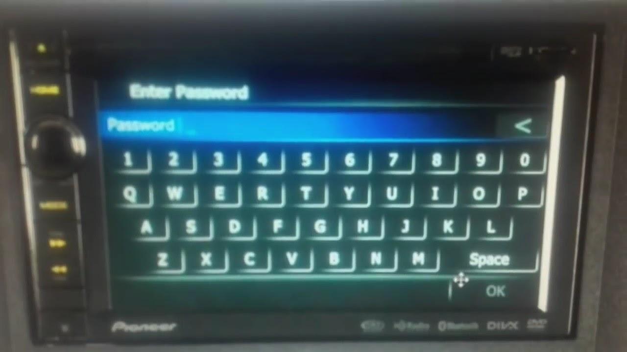 Pioneer avic 940bt password unlock разблокировка