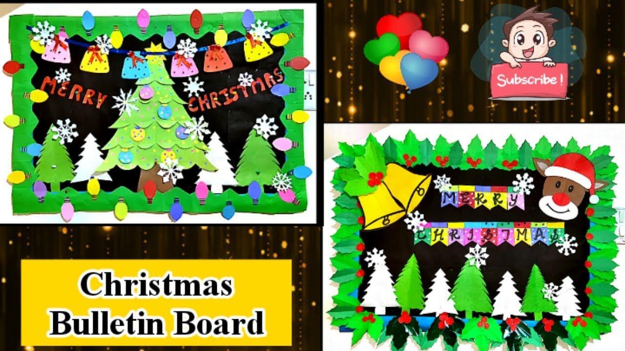 Christmas School Bulletin Board Day Display Idea Notice Ideas Youtube