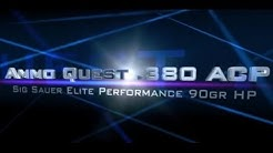 Ammo Quest .380: Sig Elite 90gr ammo test thru ballistics gel & denim