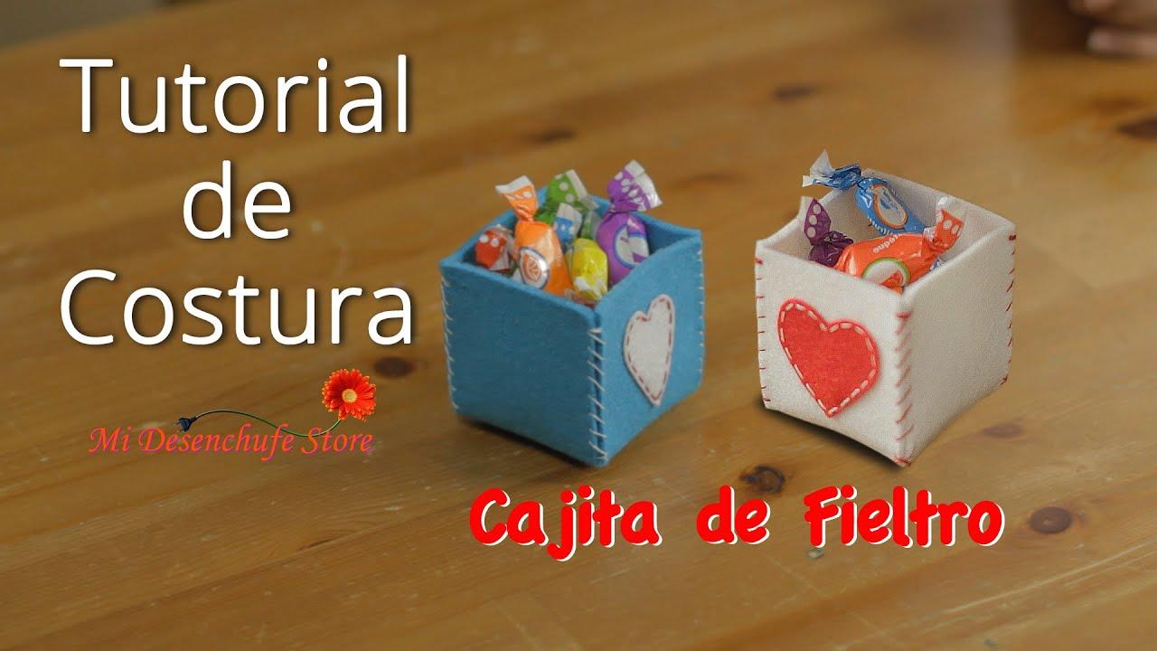 6154911be Tutorial #35 - Como hacer una Cajita de Fieltro - How to make a box of felt