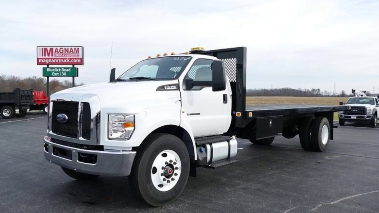 used 2016 ford f750 flatbed truck for sale near dayton columbus and toledo oh youtube. Black Bedroom Furniture Sets. Home Design Ideas