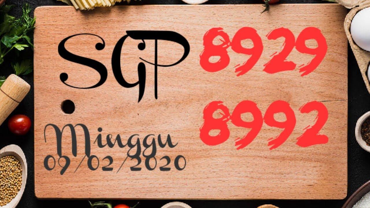 Prediksi SGP Minggu 9 Februari 2020 PTHi || Prediksi Togel