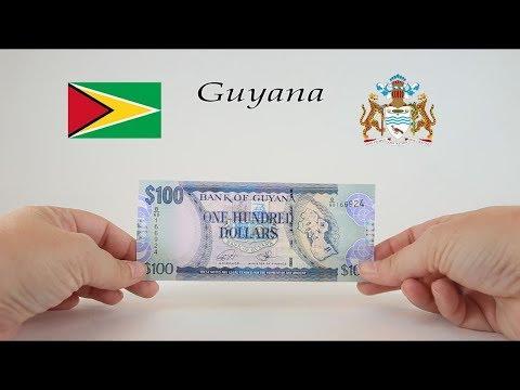 tiền giấy Cộng hoà Hợp tác Guyana thuộc Khối thịnh vượng chung Anh nằm trên lục địa Nam Mỹ
