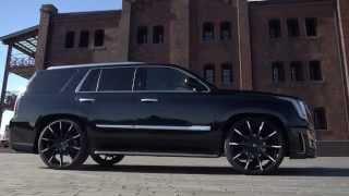 "Custom Cadillac Escalades on 26"" Lexani Wheels Montage"