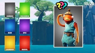 Can you Guess the RARITY of the Fortnite Skin?