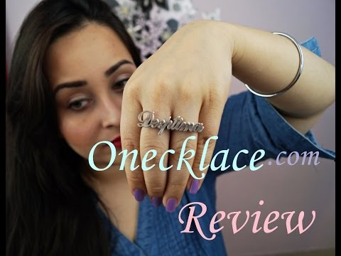 Onecklace Review | Personalized jewelry and My name ring | Bloopers
