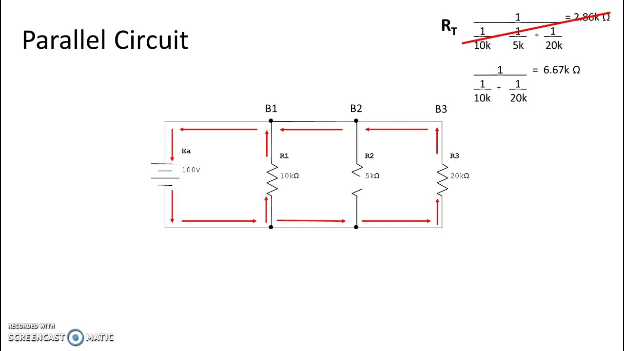 parallel circuit fault open youtube rh youtube com Series Parallel Circuit Worksheet Series and Parallel Circuits Examples
