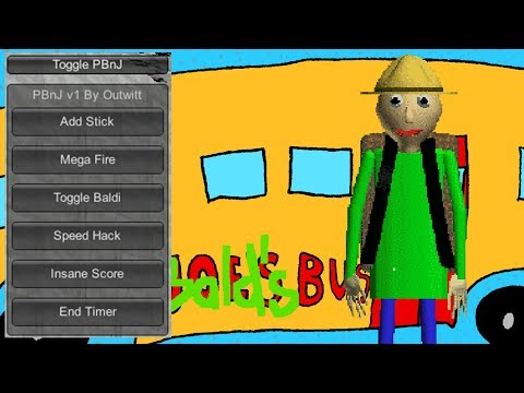 Baldi's Basics Field Trip Demo Mod Menu Update Gameplay | Speed Mega Fire Add Stick Spawn Baldi