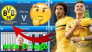 Dream League Soccer 2019 | How To Create Borussia Dortmund Team Kits & Logo 2019