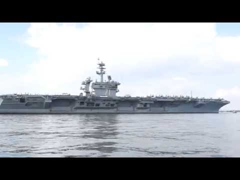 USS Theodore R Roosevelt in Stokes Bay Portsmouth