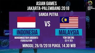 Download Video Jadwal Perempat Final Laga Badminton Ganda Putra, Indonesia Vs Malaysia di Asian Games 2018 MP3 3GP MP4