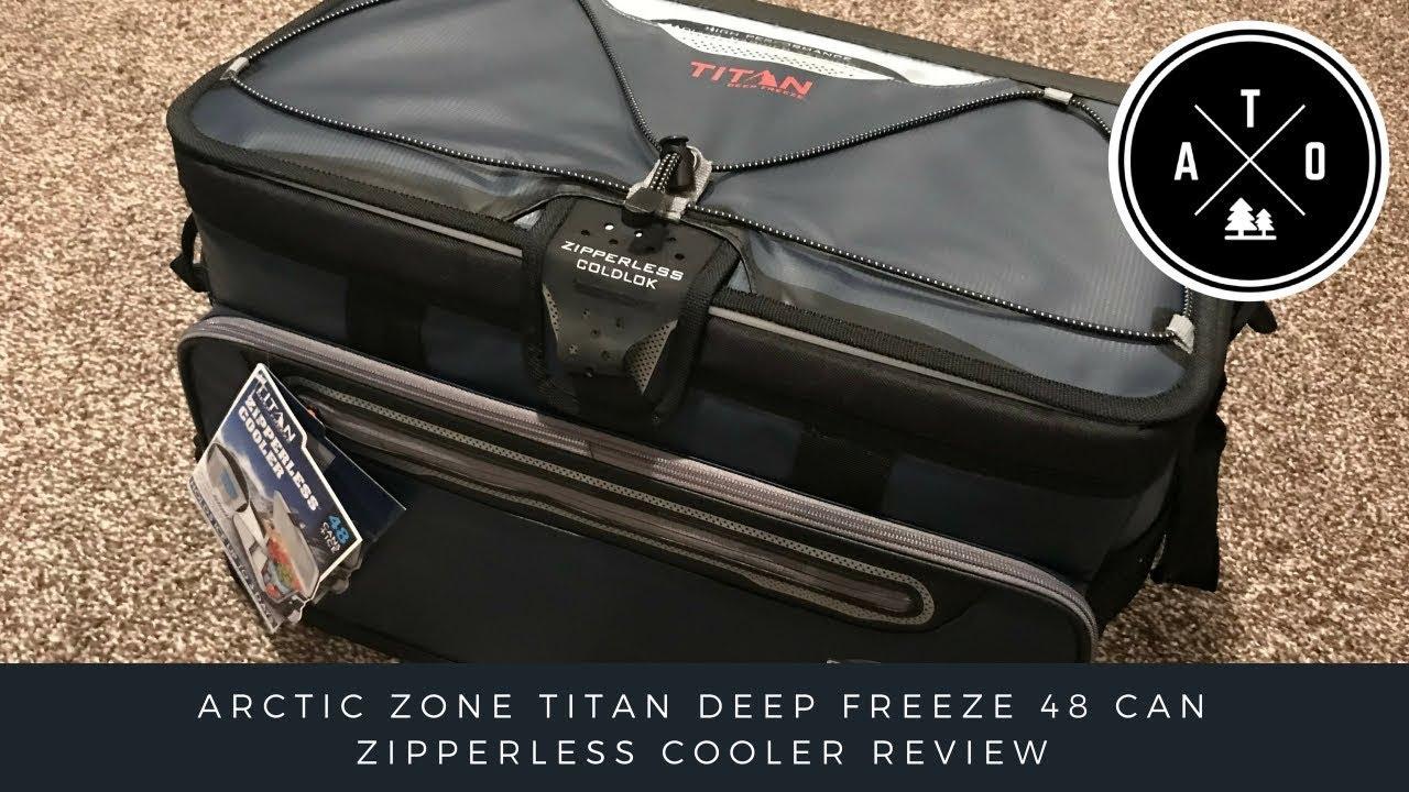 Blue Arctic Zone Titan Deep Freeze Zipperless Hardbody Cooler 48 Can