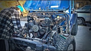 Rebuilding A Wrecked Jeep Rubicon Part 3