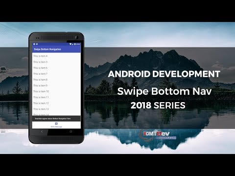 Android Development Tutorial - Swipe Bottom Navigation View