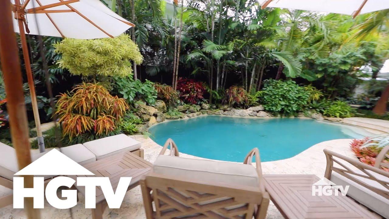 Design Stories | Lush & Tropical Garden - HGTV - YouTube