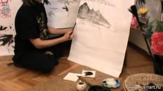 Уроки по пейзажной живописи у-син. Урок 3.3