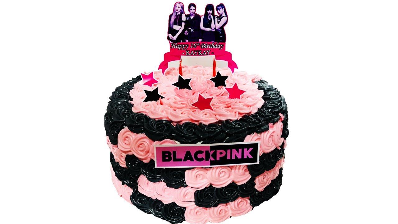 TRENDING BLACKPINK CAKE | HOW TO MAKE BLACKPINK CAKE DESIGN USING BOILED ICING | YUFI VLOG