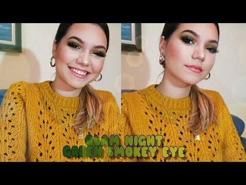 GLAM NIGHT , GREEN SMOKEY EYE | XHENA KURTI
