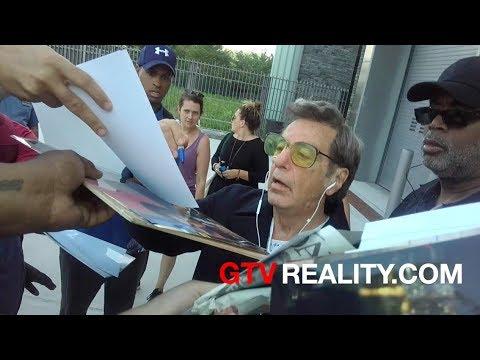 Al Pacino signing autographs as Joe Paterno on GTV Reality