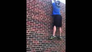 Wall climb with no hands!