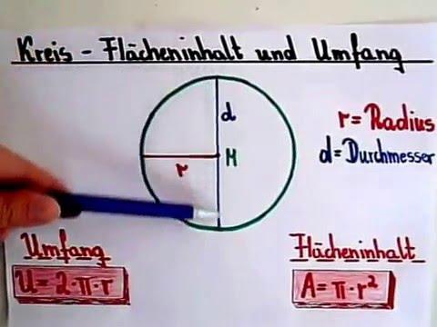 Kreis berechnen - Flächeninhalt und Umfang - YouTube