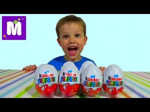 Киндер Сюрприз яйца распаковка Kinder Surprise