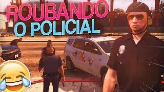 ME VESTI DE POLICIAL E ROUBEI UMA VIATURA - GTA RP