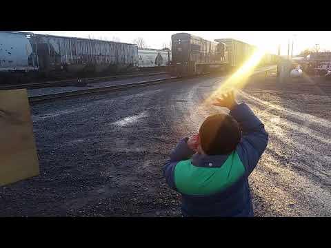 Finger Lakes Railroad Stops in Geneva NY Yard  11/20/17