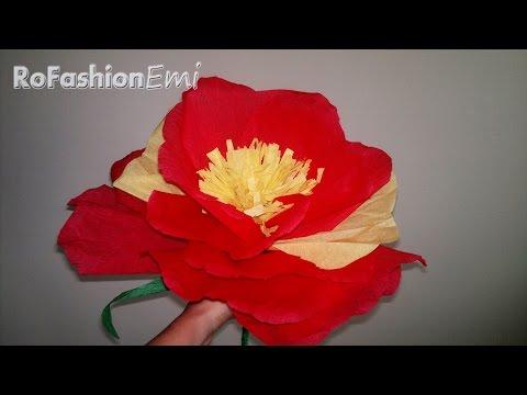 Tutorial Ro Fashion - Cum sa faci o floare gigant DIY