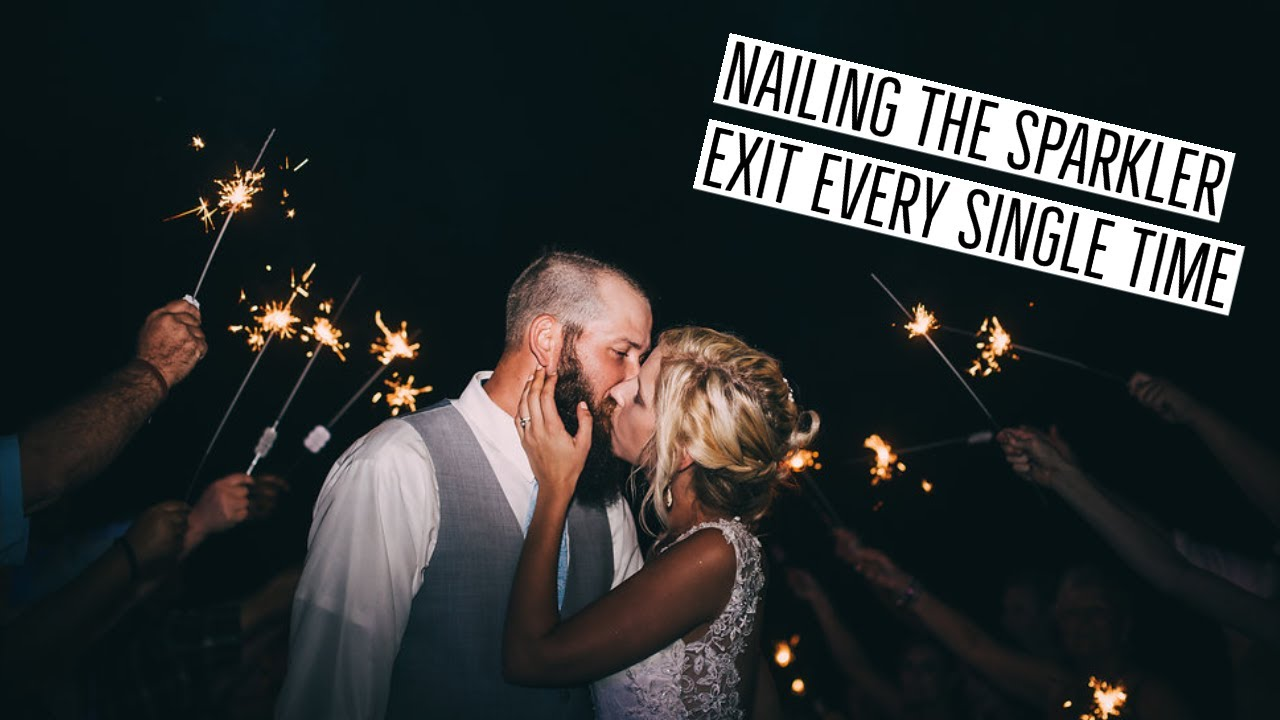Nail The Sparkler Exit Every Time - Professional Wedding Photographer Tips and Tutorials
