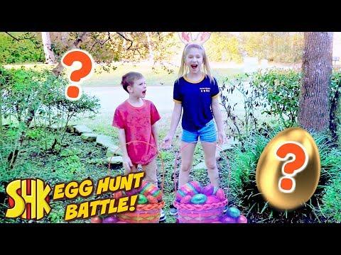 Hope vs Noah Easter Eggs Treasure Hunt! SuperHeroKids Skits in Real Life w/ Best Fiends Game