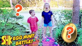 Hope vs Noah Easter Eggs Treasure Hunt! SuperHeroKids Skits in Real Life w/ Best Fiends Game