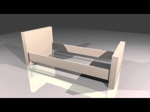 Bed van mdf maken zelf een bed maken van mdf youtube for Bed van steigerhout maken